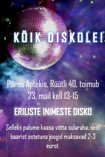 Eriliste inimeste disko puhvetis APTEK 23.05.2019